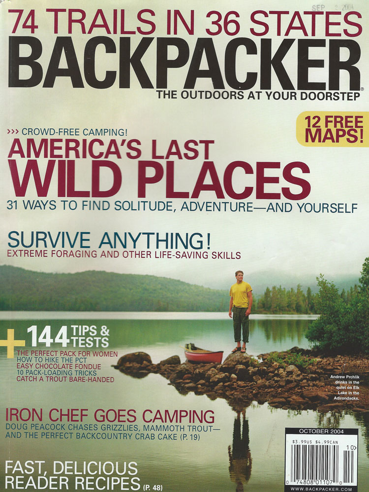 All You Can Eat Wilderness, Backpacker, September 2004